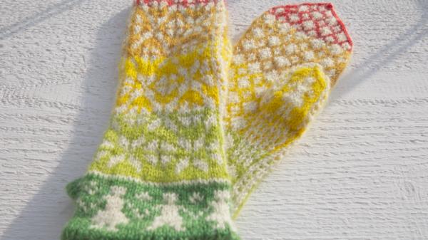 Selbstentworfene Handschuhe in der Vielfältigen